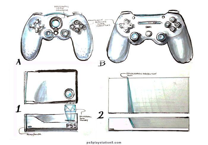 2 PS5 Concept Designs - Console and Controller
