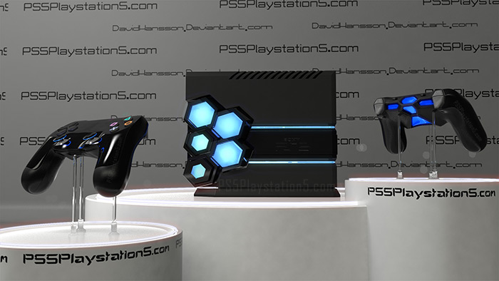 PS5 Console and Controller by David Hanson