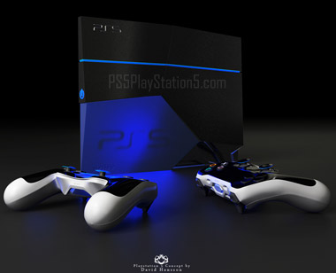 Playstation 5 with controllers