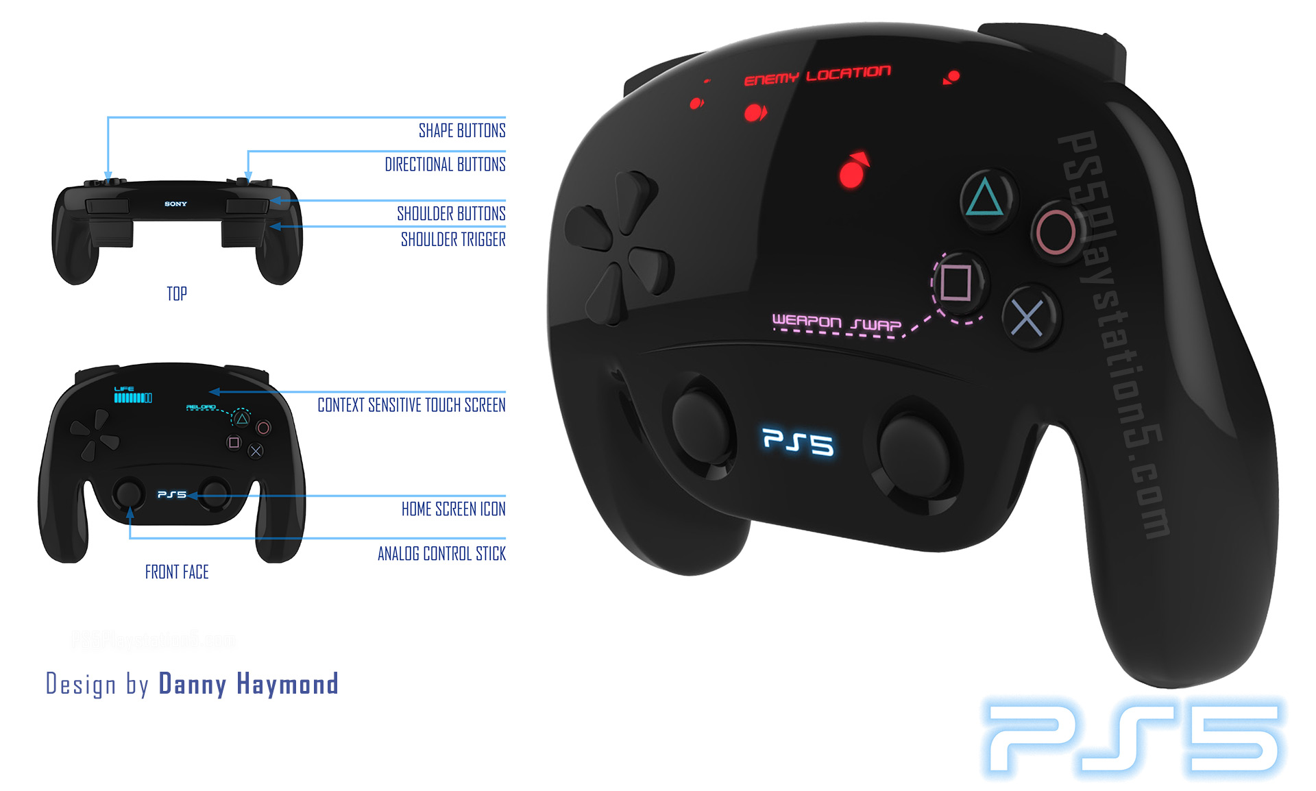 Levitating PS5 Console with Touch Screen Dualshock 5