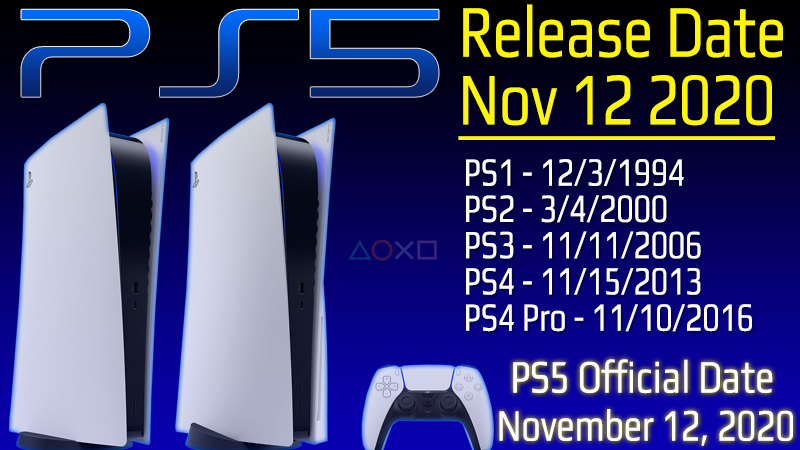 PS5 Release Date Nov 2020 - Official Countdown to PS5 Launch